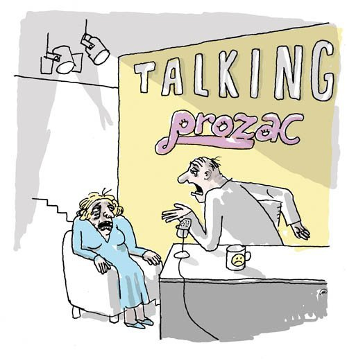 Medium groene talking prozac
