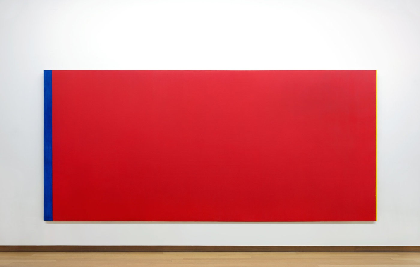 Medium barnett 20newman. 20who s 20afraid 20of 20red 2c 20yellow 20and 20blue 20iii 2c 201967 1968. 20collectie 20stedelijk 20museum 20amsterdam