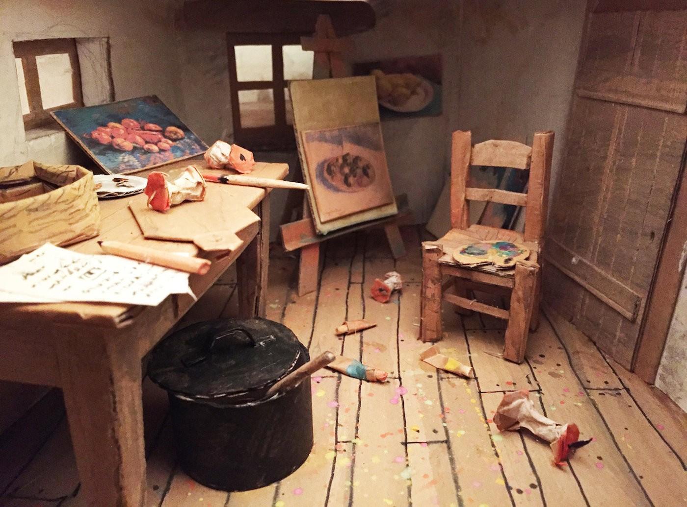 Van gogh door een gaatje de groene amsterdammer - Schilderij slaapkamer kind ...