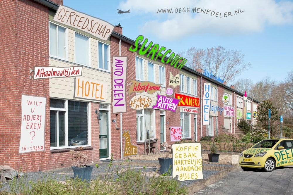 De deeleconomie en de idylle van het dorpsplein