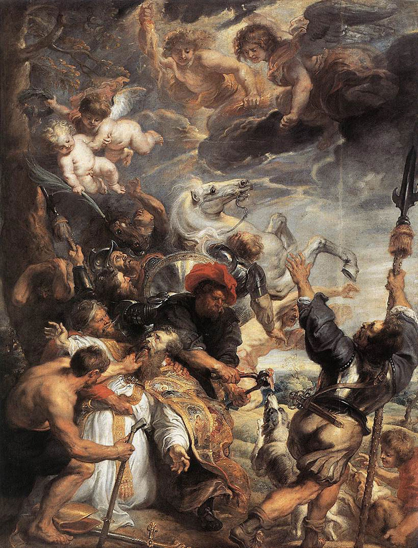 Medium the martyrdom of st livinus by rubens