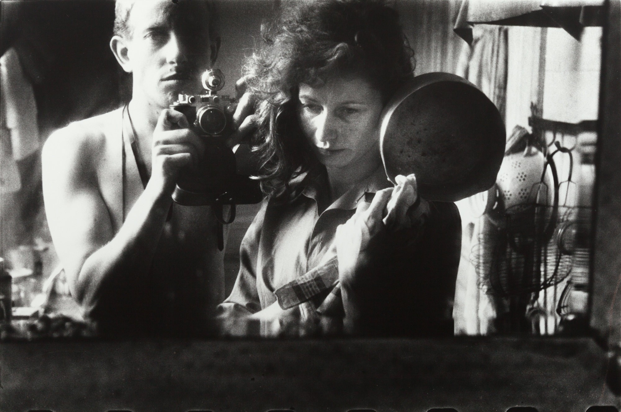 Large 5. ed van der elsken  selfportrait with ata kand   paris  1953