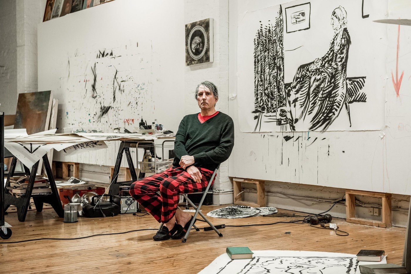 Medium raymond pettibon in his studio 2017 photo george etheredge