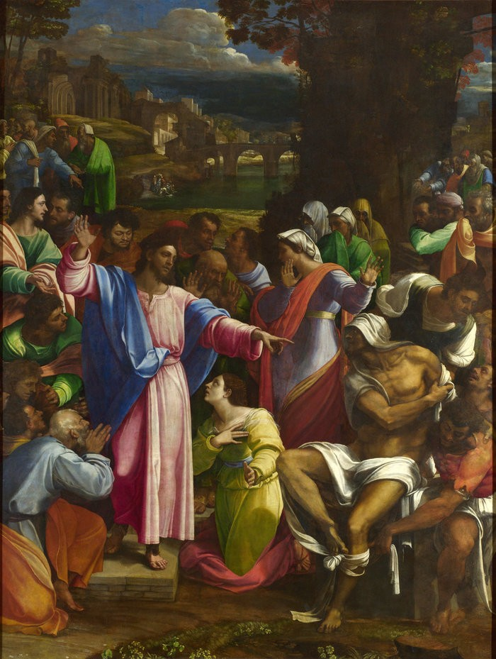 Small sebastiano del piombo  the raising of lazarus
