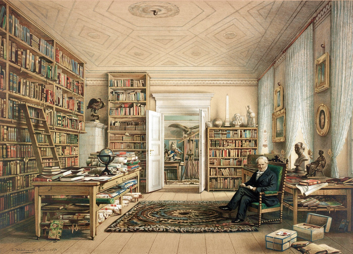 Medium humboldt library berlin 1856
