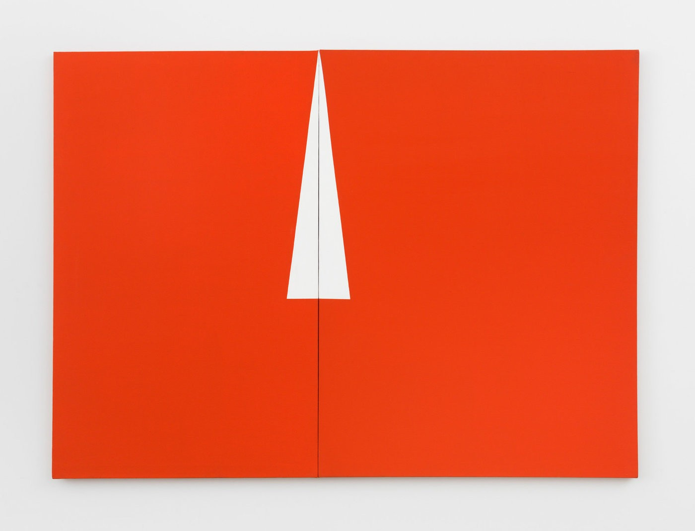 Medium 2017 carmen herrera red with white triangle 1961 300dpi