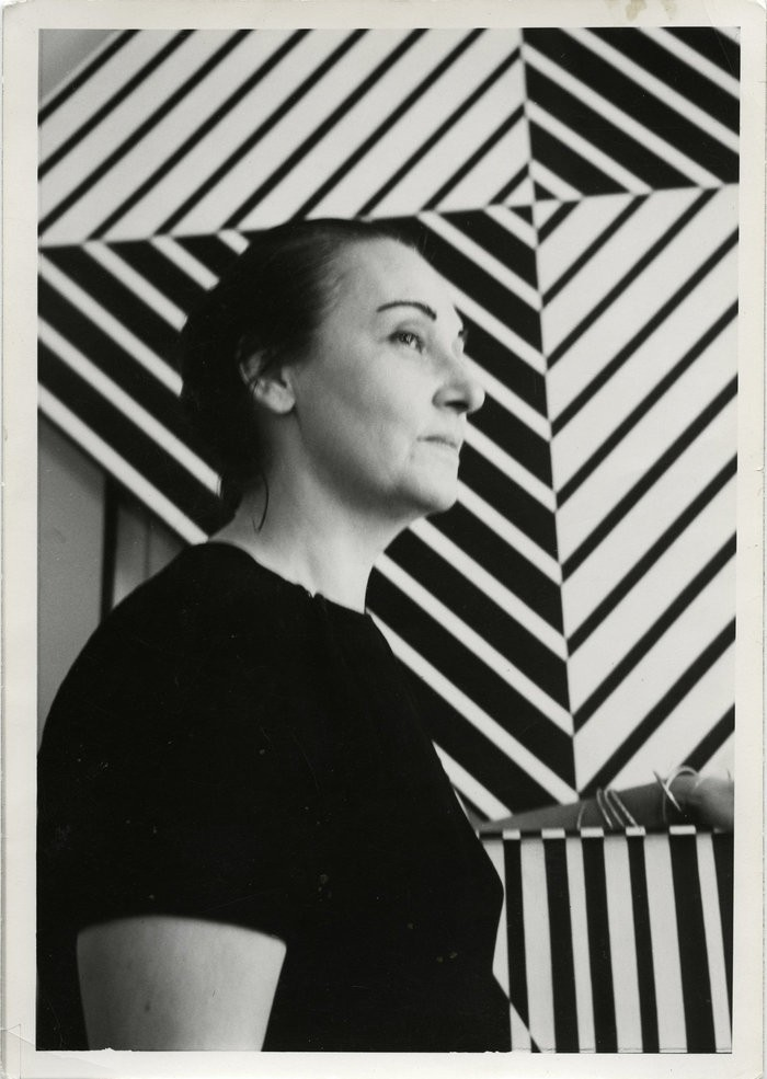 Small portrait of carmen herrera ca 1961 photograph by ralph llerena george perruc staff photographers