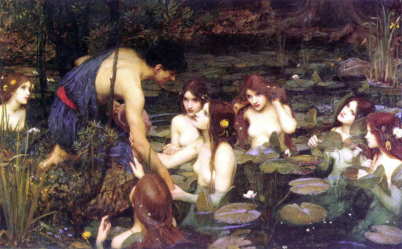 Medium waterhouse hylas and the nymphs manchester art gallery 1896.15